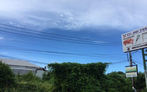 今日のバリ島のお天気♪2017年1月24日