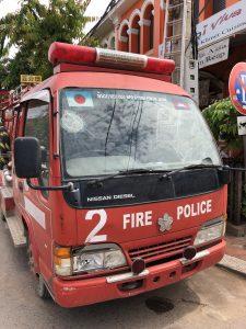 【カンボジア現地情報】発見!カンボジアで日本の消防車