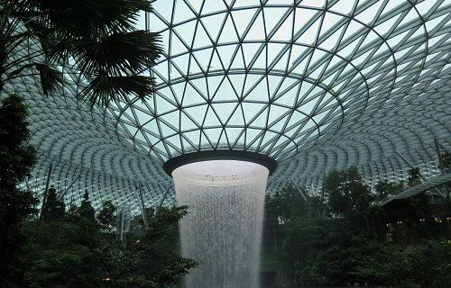 【シンガポール 観光情報】Jewelの噴水☆どこから見てもキレイ