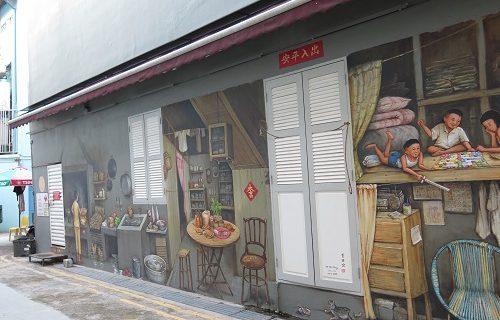 【シンガポール 観光情報】チャイナタウンで見つけた新しい壁アート