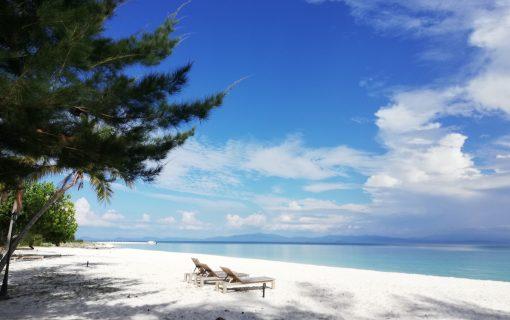 《コタキナバル》白い砂!青い海!マンタナニ島