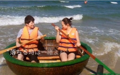 【動画】ベトナムのホイアンでお椀のボートに乗ってみた