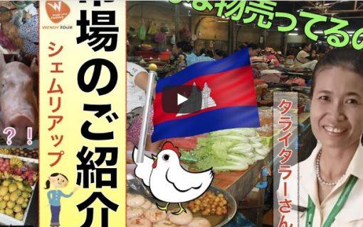 【動画】オンライン旅行でカンボジア観光!シェムリアップの台所、オールドマーケットのご紹介♪