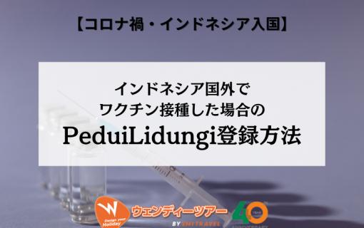 インドネシア国外でワクチン接種した場合のPeduiLidungi登録方法