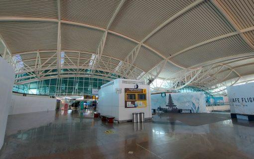 10月14日のバリ島国際線空港の様子を見てきました。